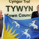 Elwyn Evans, Tywyn Town Clark and Ron McCoo Tywyn Town Mayer